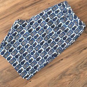 Talbots womens pineapple shorts plus size 18